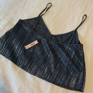 Victoria's Secret Intimates & Sleepwear - VICTORIA'S SECRET Metallic Crop Tank